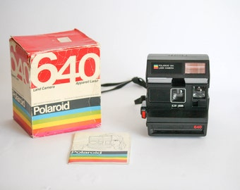 Vintage Polaroid 640 Camera - with Original Box