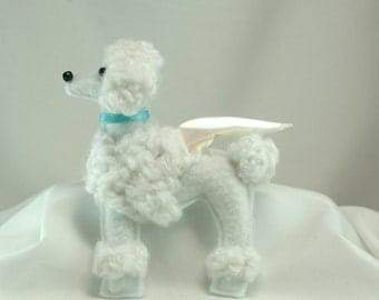 Memorial, poodle ornament, Angel dog, Rainbow bridge