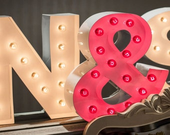 Marquee Letter Light Initials >> Weddings, Engagements, Anniversary, Gift