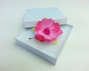 Choice of colours flower hair pin, flower headpice, wedding hair accessories, prom hair pin, bridesmaid hair pin, flower girl