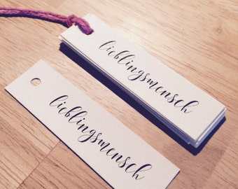 gift tag lieblingsmensch (favorite person)