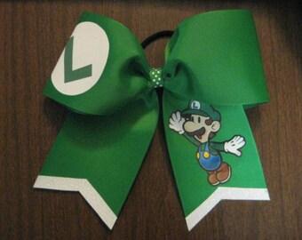 Lugi Super Marios Cheer Style Hair Bow