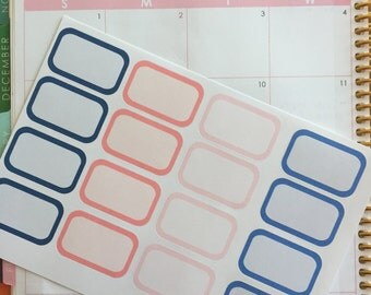 Navy and Coral Collection Erin Condren Half box planner stickers!