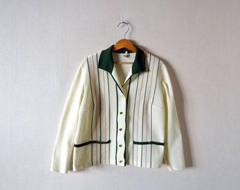 Vintage jacket TREVIRA 2000 / suit jacket blazer / size 48