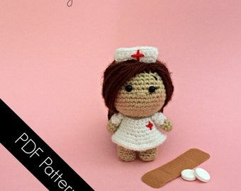 Amigurumi Nurse - PDF WRITTEN PATTERN