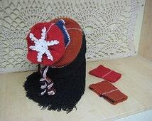 Hats Gloves knitting mittens Modern Skiing accessories Winter hat Snowflake Black Blue Orange Red knits