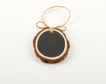 Chalkboard & Wood Slice Gift Tags | Chalkboard Tags | Cedar Wood Slice Tags