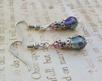 Amethyst Faerie Lantern Earrings