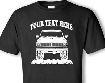FORD F100 - F150 - F250 FORD Truck 1970 4x4 - Off Road - Personalized Cotton T-shirt - #TOR027