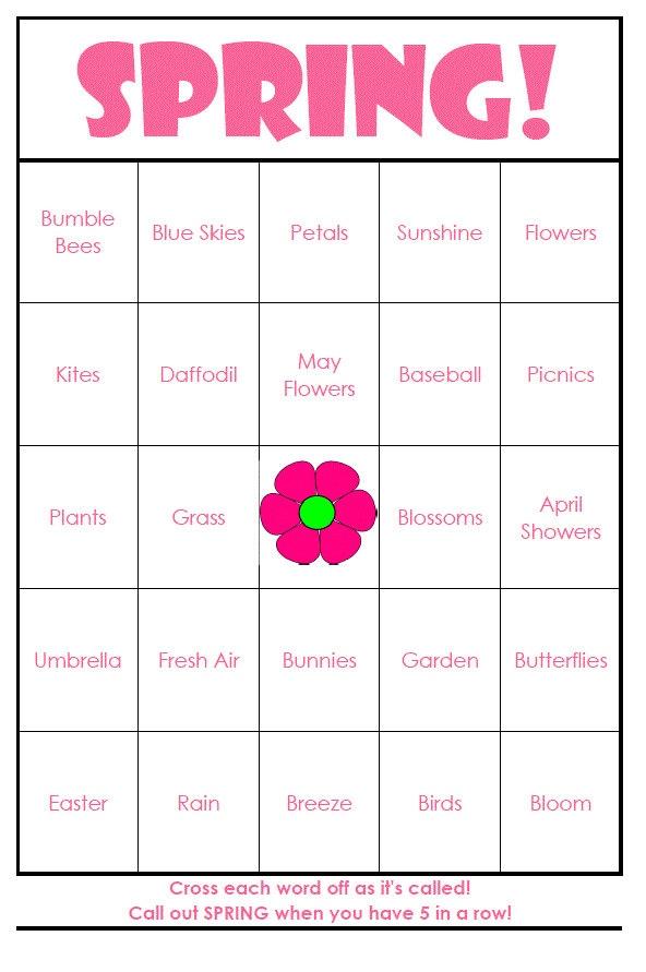 Spring Bingo Cards Digital File 40 Cards