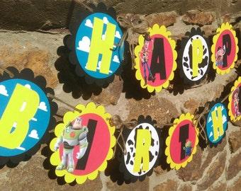 Toy Story Happy Birthday Banner