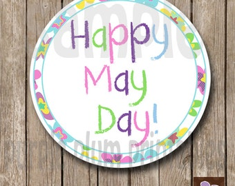 Instant Download - May Day Tag - Happy May Day - Print at Home