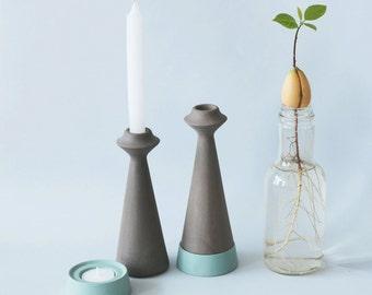 Candle holder, Shabbat Candlestick, Ceramic Candle stick, tea light Candleholder, taper candle holder, modern Judaica, shabbat candle holder