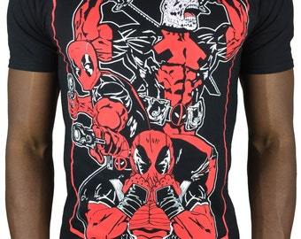 Deadpool tshirt t-shirt tee merc with a mouth samurai gunslinger marvel t-shirt colour
