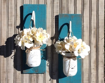 Mason Jar Sconce Rustic Decor  Mason Jar Wall Decor