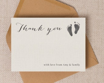 Baby thank you cards | Etsy