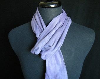 Naturally Dyed Cotton Infinity Scarf - Logwood Purple