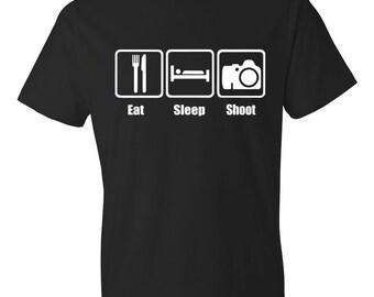 Eat Sleep Shoot, Shoot Shirt, Photographer Shirt, Photographer Gift, Photography Shirt, Photography Gift
