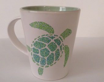 Sea Turtle Mug hand painted 14oz