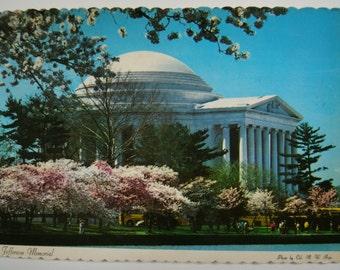 Vintage USA Postcard. Jefferson Memorial. Collectible. Ephemera. Historical. Memorabilia. 1960s. Uruguay. Vintage USA stamp. Vintage Paper.