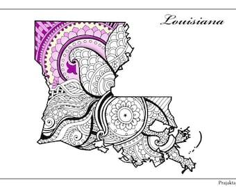 Louisiana doodle Etsy