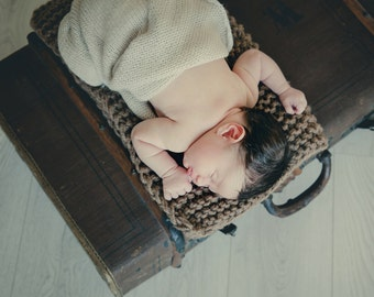 Outlander inspired chunky knited brown blanket, newborn photo prop, basket filler, Christmas gift for newborn, baby blanket, newborn wrap