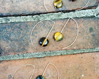 Genuine Tigers Eye Signature Earrings