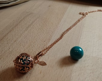 Pregnancy brass motif rose gold scrolls, ball blue chime duck and charms sheet.