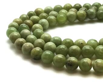 6mm Natural Peridot Beads Round 6mm Peridot 6mm Green Peridot Green Beads Green Gemstone Green 6mm Peridot Beads 6mm Mala Beads