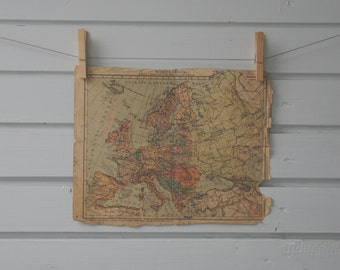 1930's Vintage Europe Map