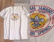 Vintage Boy Scouts shirt | Vintage girl scouts shirt | National Jamboree | 1960 Boy scout shirt | 60s | Colorado Springs