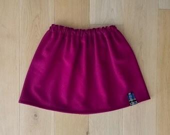 SALE 50% OFF!!!  Girls Pomegranate Pure Wool Skirt