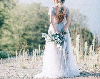 Grey wedding dress etsy grey wedding dress grey bridesmaid dress gray wedding dress gray bridesmaid dress junglespirit Gallery