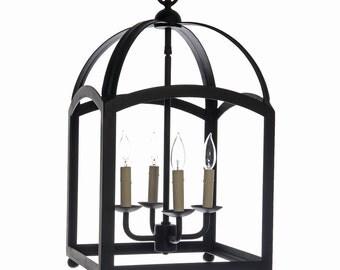 Wrought Iron Arch Style Lantern