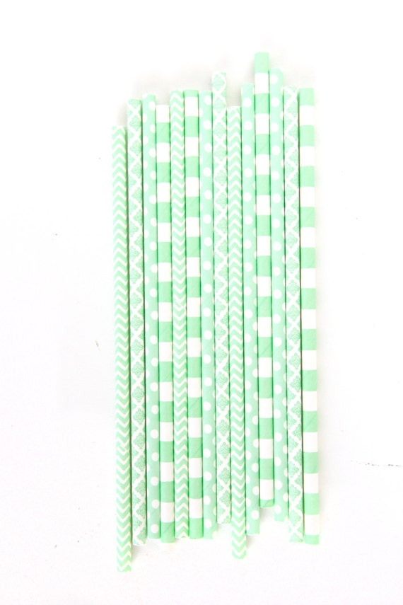 Mint Straw, Paper Straw, Mint Green Straw, Baby Shower, Mint Wedding Decor, Buffet, Food Decoration, Happy Hour Drinks, Girl Birthday