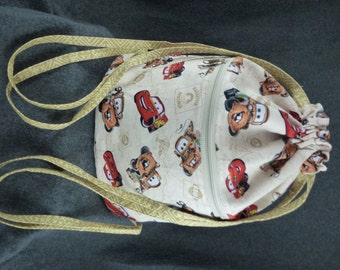 Cars Fabric Drawstring Backpack!