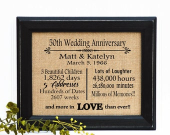 50th Wedding Anniversary Gift For Husband : gift 50th anniversary anniversary gift for parents 50 year wedding ...