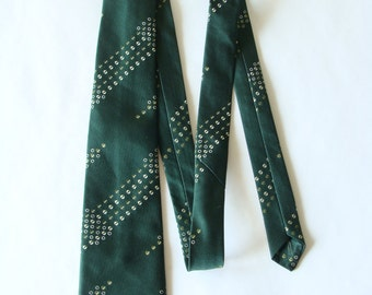 Vintage men's tie Hedval Prague Centrotex Mens necktie ties Soviet man's tie Vintage tie Green necktie Mens neckties Mens gift USSR Tie 1980