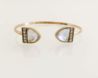 Cuff bracelet, Boho bracelet, Bangle bracelet, Arm bracelet, Dainty bracelet, Bohemian cuff bracelet, Pave bracelet