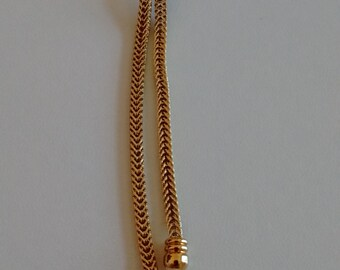 "Knotted Gold Tone Chain Necklace, Goldish Knot Necklace, Knotted ""Goldish"" Chain"
