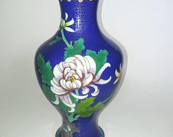 Cloisonne Vase - Chinese Vase - Vintage Asian Vase - Vintage Floral Vase - Asian Decor - Enamel Vase - Home Decor - Flower Vase