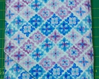 Bella fabric. white blue purple diamonds cotton quilting Exclusively Quilters 4368