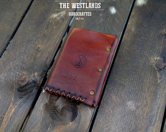 Tanned Trifold Leather Wallet The Westlands Skin Tanning Vegetable Minimal Full Grain Handmade portfolios Made in Italy TheWestlands TWL
