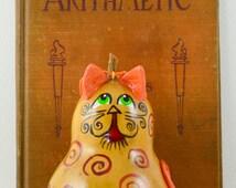 Cat Gourd Ornament Gourdament Natural Cat with Swirls