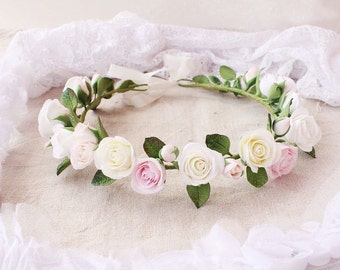 Bridal Flower Crown, Wedding Hair Wreath, Bridal Hair Accessories