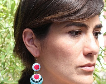 Gipsy earrings made of cloth