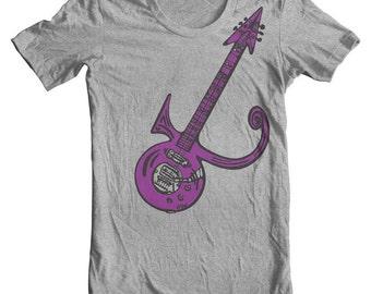 Prince t shirt Prince Shirt inspired Purple Rain Guitar Tribute t shirt Prince Symbol Prince guitar art