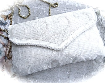 Vintage Beaded Evening Bag Wedding Purse Bridal Handbag Women's Accessories VP-241