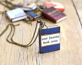 Custom book jewelry Custom book necklace Book charm Custom book pendant Personalized gift for writer Bookish gift Book lover gift Mini books