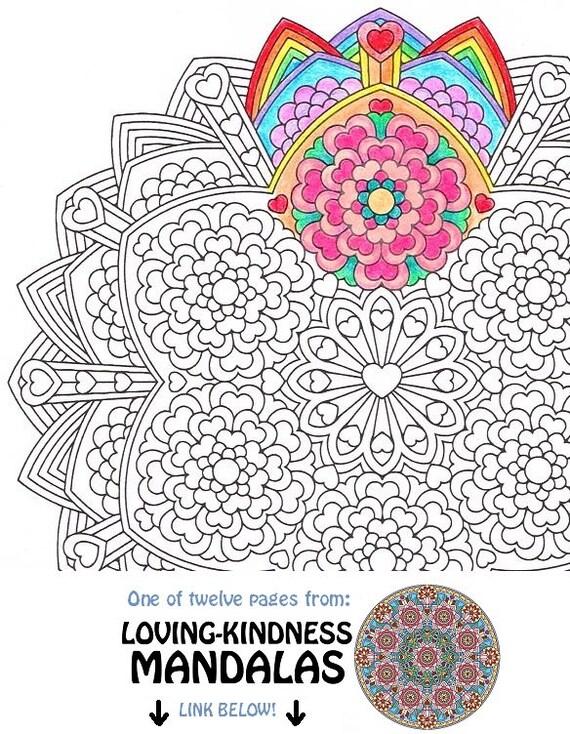 mandala kleurplaat compassie karuna afdrukbare